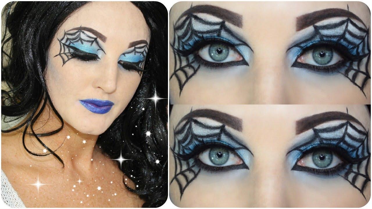 spider webb eye makeup tutorial halloween nyx. Black Bedroom Furniture Sets. Home Design Ideas