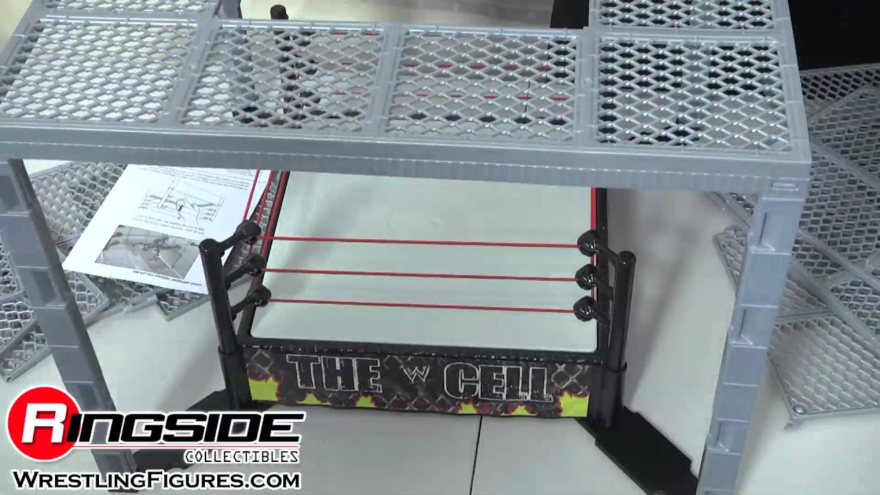 WWE THE CELL Wrestling Ring By Mattel Toy Wrestling Action