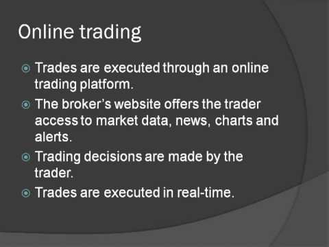 How to Make Money Online : Advantages of Online Trading