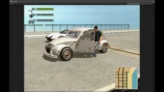 Repeat youtube video Unity3D Edy's Vehicle Physics DRIV3R 2CV unfinished prototype test