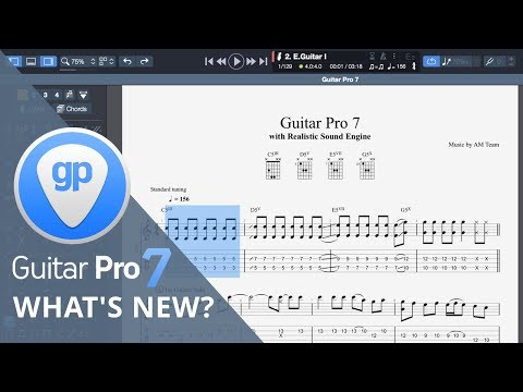 What's New in Guitar Pro 7 | Music Notation Software