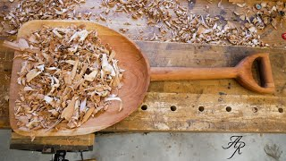 Carving A Wood Shovel From A Single Board