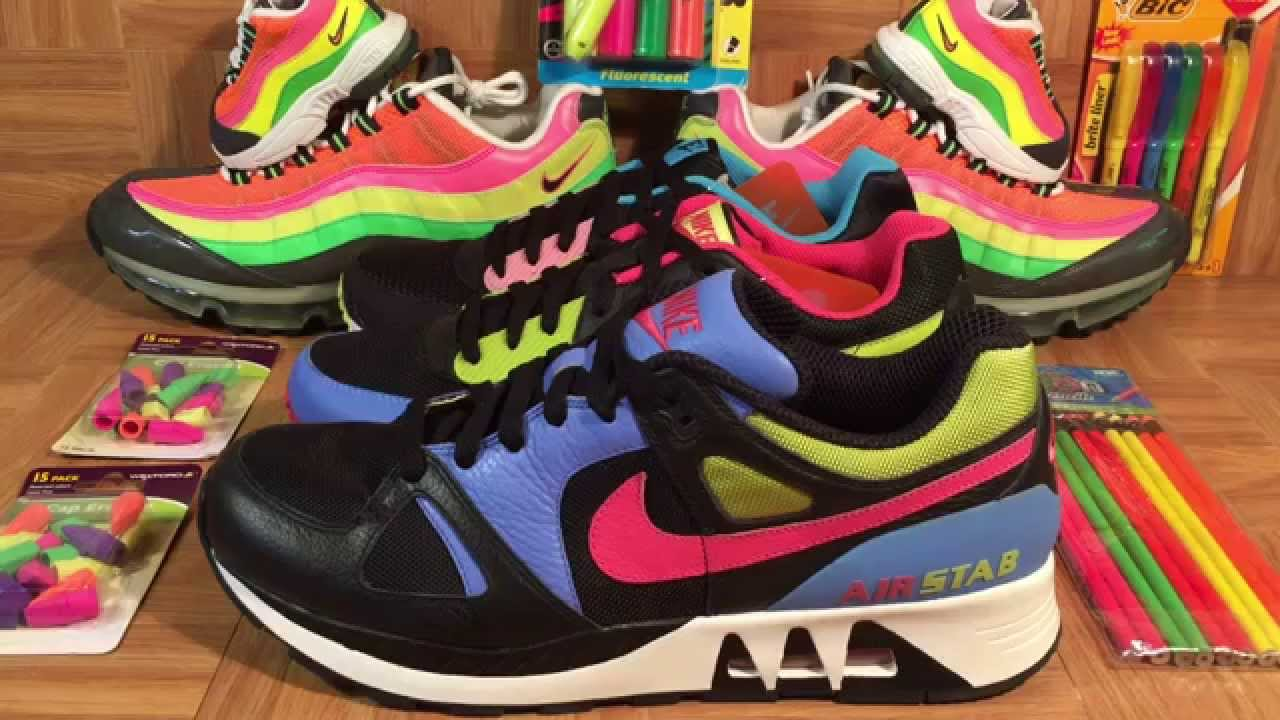 ShoeZeum Highlighter Nike Air Stab And Air Max Light Back To School Shoes
