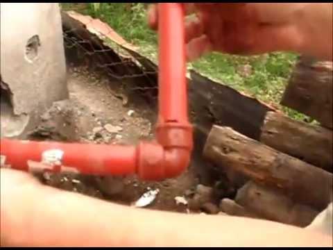 Como roscar ca eria para agua youtube for Construccion de piletas de agua