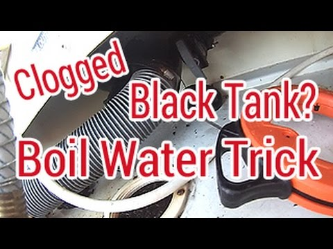 Clogged Black Water RV Tank, Free Quick Fix - YouTube