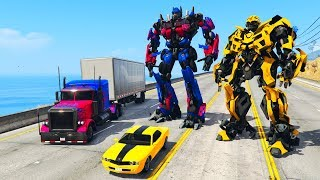 GTA 5 - Playing with TRANSFORMERS!!
