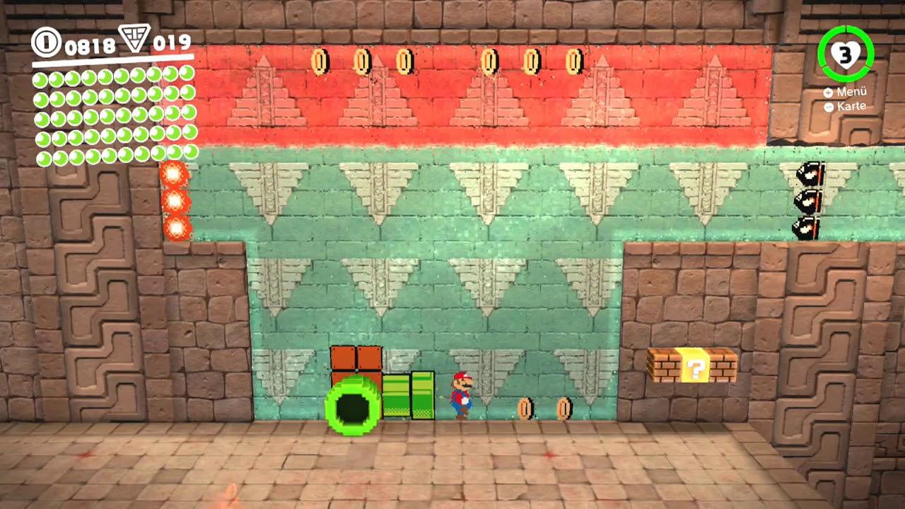 Super Mario Odyssey Wüstenland 46 Geheimraum Der Kopfstand
