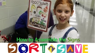 How to Assemble SORT2SAVE Cafeteria Signs (SORT2SAVE Kit)