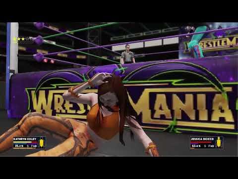 JMWE WrestleMania 34: Kathryn Oxley vs. Jessica DiCicco (Women's World Heavyweight Championship)