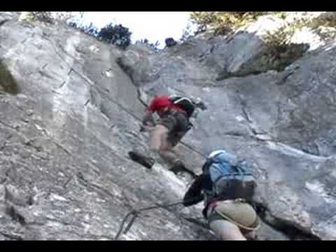 Klettersteig Tajakante : Seeben klettersteig und tajakante youtube