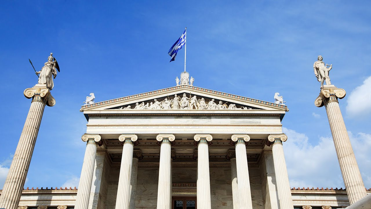 Walk at the Academy of Athens, the University of Athens and the National Library of Greece