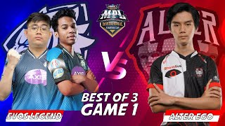 EVOS VS AE MATCH 1 MPLI!!! GAME PLAY EVOS DENGAN ROSTER BARUNYA BOSS!!!