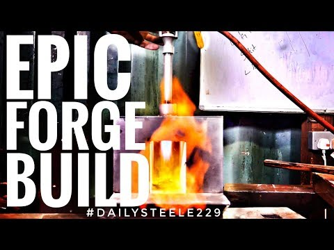 BUILDING AN EPIC BEGINNER BLACKSMITHING FORGE! *IN 4K*