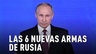 Vladímir Putin revela las 6 nuevas armas de Rusia