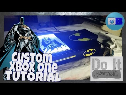 Custom Xbox One Tutorial - Batman (A Drumblanket DIY Tutorial)