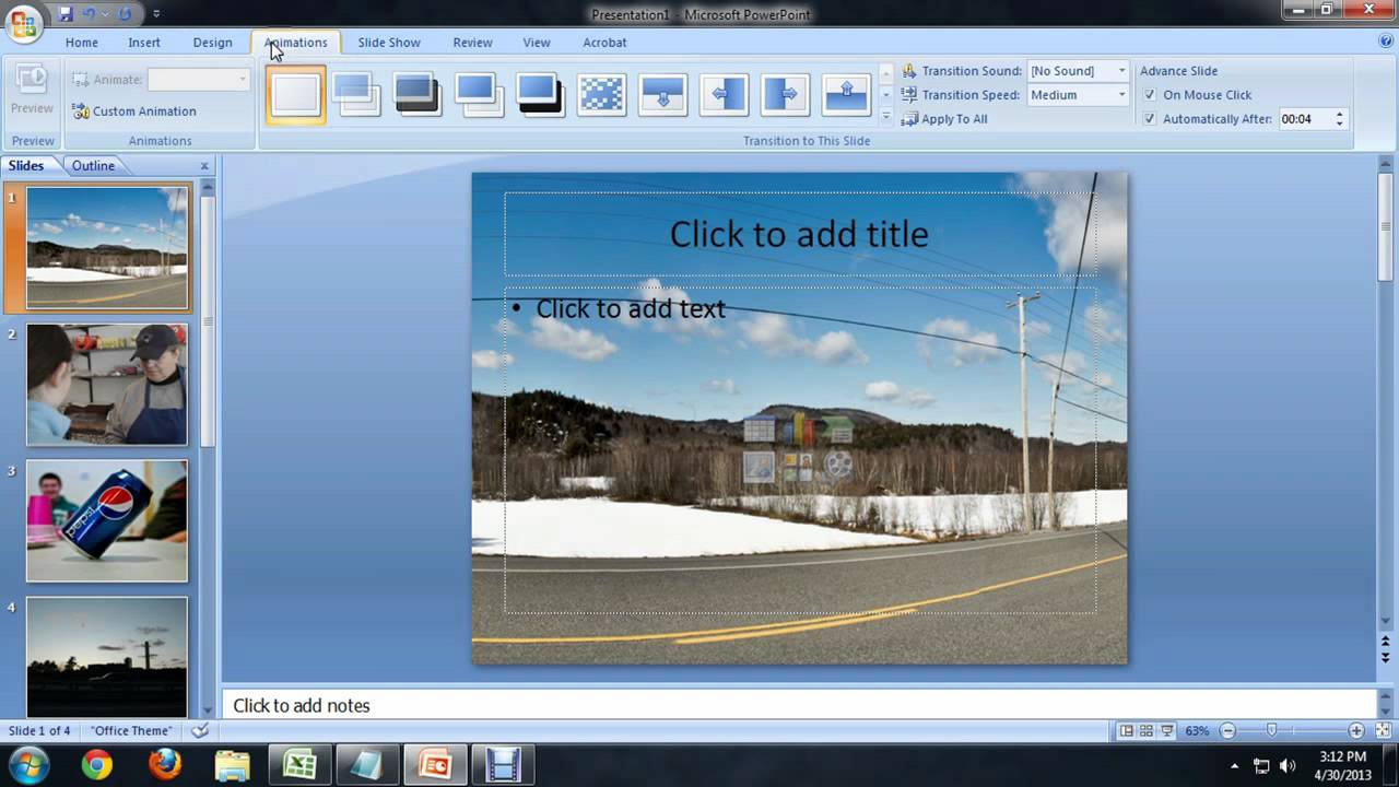 faire cv sur power point