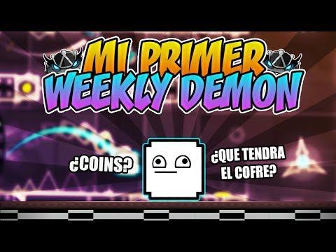 ¡MI PRIMER WEEKLY DEMON! ¿UN GRAN COFRE? | GEOMETRY DASH 2.11
