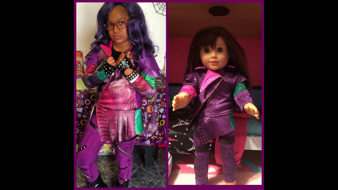 American Girl Doll Disney Descendants Mal Costume Youtube