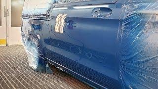 Car painting   Mercedes Benz Vito / Spray gun Sata 1.3RP & Iwata ws400 1.4HD   Clear coat Lechler