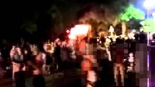 2012年7月14日の四日市市富洲原地区の松原の石取り祭り。 聖武天...