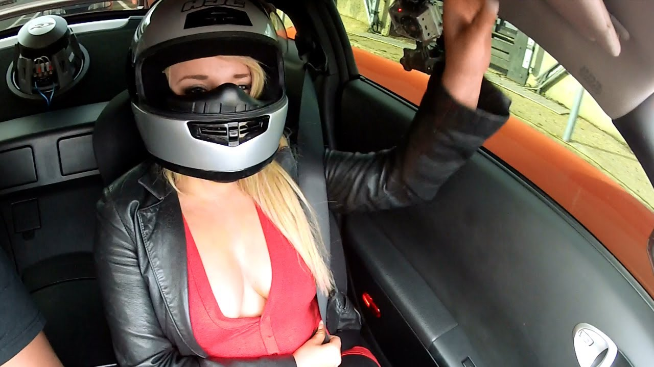 Girls Boobs Almost Pop Out Nissan 350z Track Day Fail