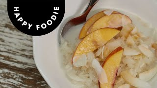 Nectarines on Sticky Rice  Chicken and Rice