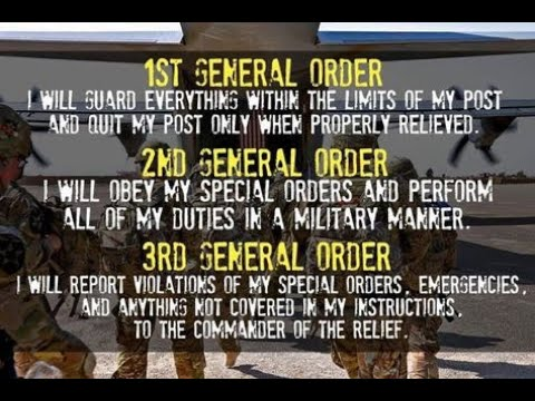 The 3 US Army General Orders (1 Hr. Loop)