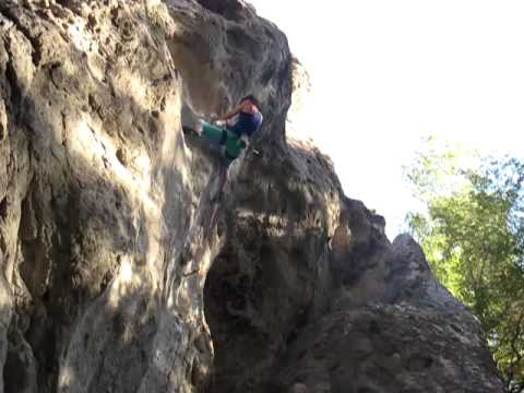 Alice Rietveld Climbing at Malibu Creek
