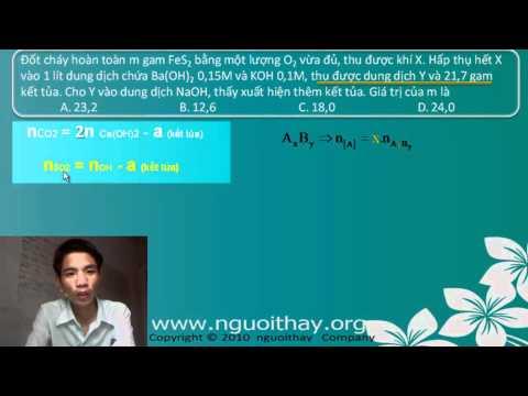 Oxit axit tác dụng với bazơ - Luyện thi Đại Học (phần 2)