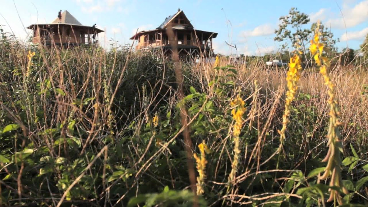 Bamboo Living: Two Green Bamboo Homes Up In Two Days - YouTube