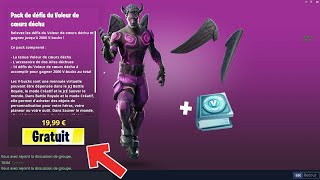 "HOW DÉBLOQUER THE PACK ""DECETDED COEURS"" with 2000 V-BUCKS on FORTNITE... 😱"