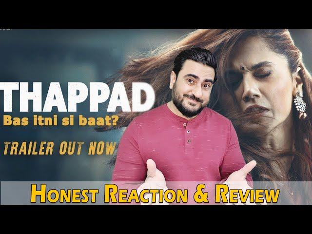 THAPPAD Trailer Reaction & Review   Taapsee Pannu, Anubhav Sinha