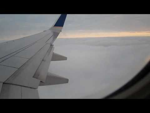 HD Continental Airlines B737-900ER snowy landing in Cleveland CLE