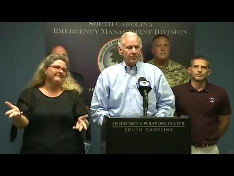 South Carolina Governor Discusses Storm Preparations