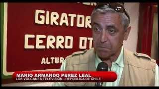 Televisión chilena en Teleférico Cerro Otto