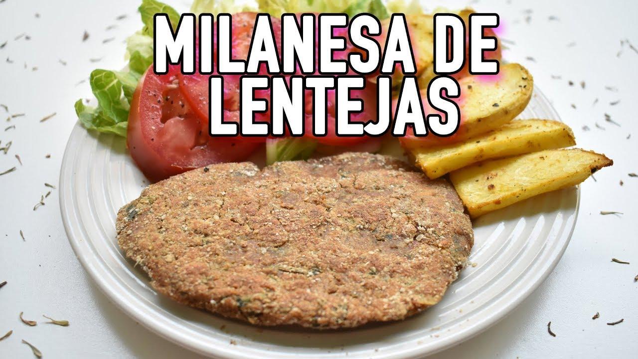 MILANESAS DE LENTEJAS