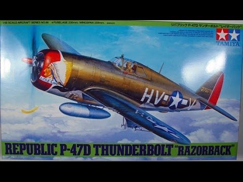 Building the Tamiya 1/48 p-47 Thunderbolt