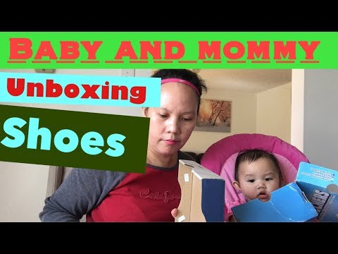 baby-unboxing-skechers-shoes-|-mommy-unboxing-asics-shoes-and-try-on
