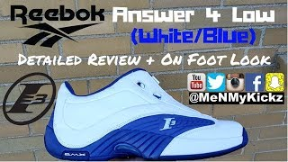 Reebok Answer 4 Low (White/Royal Blue) Detailed Review + On Foot Look