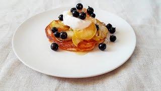 Пышные оладьи на кефире. Оладьи с яблоками и мороженым Домашний рецепт Как приготовить пышные оладьи