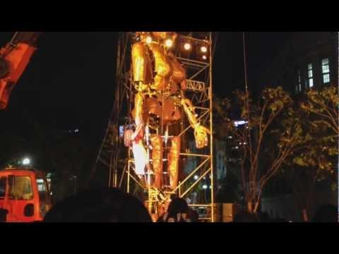 """APHRODITE"" by LA FURA DELS BAUS  2012.10.5 at Seoul City Hall Park"
