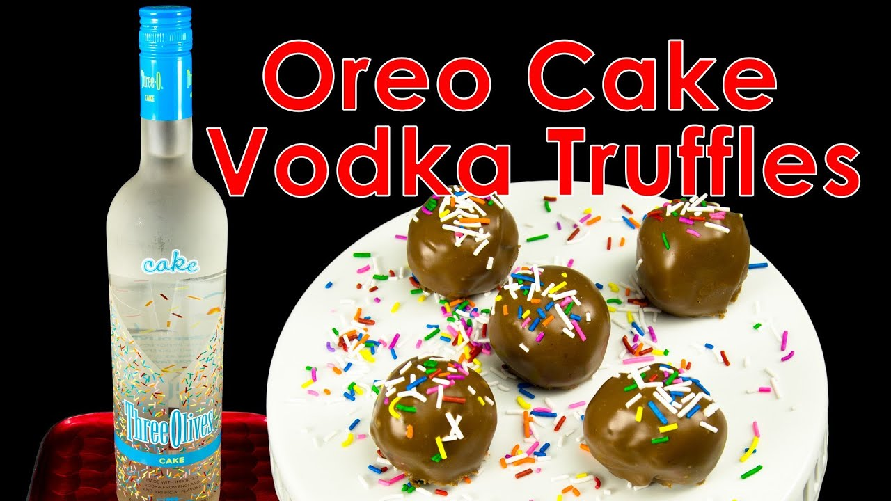 Oreo Cake Vodka Truffles from Cookies Cupcakes and Cardio YouTube