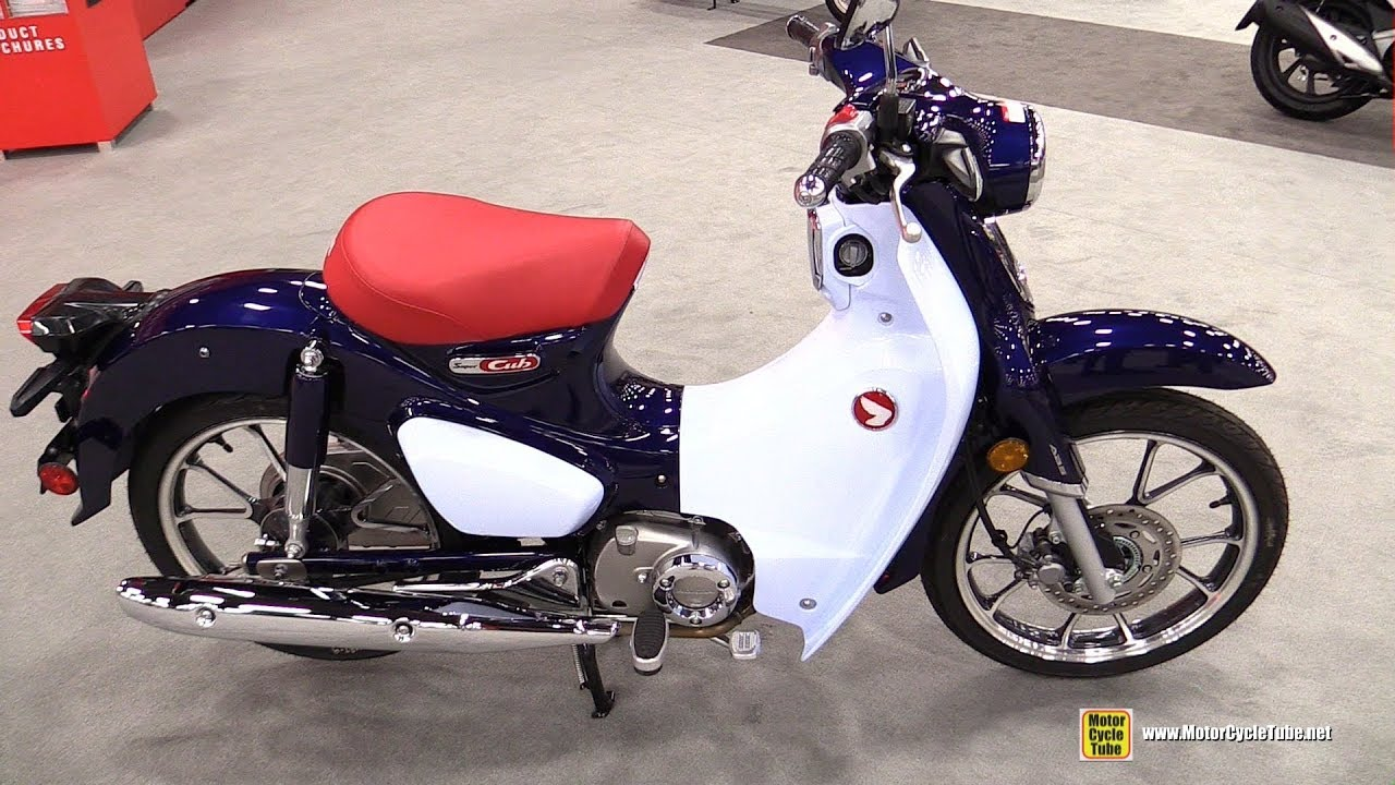 2019 honda super cub 125 walkaround debut at 2018 aimexpo las vegas youtube. Black Bedroom Furniture Sets. Home Design Ideas
