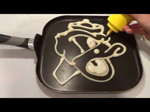 Pancake Art - How to Make Oregon Ducks Pancakes