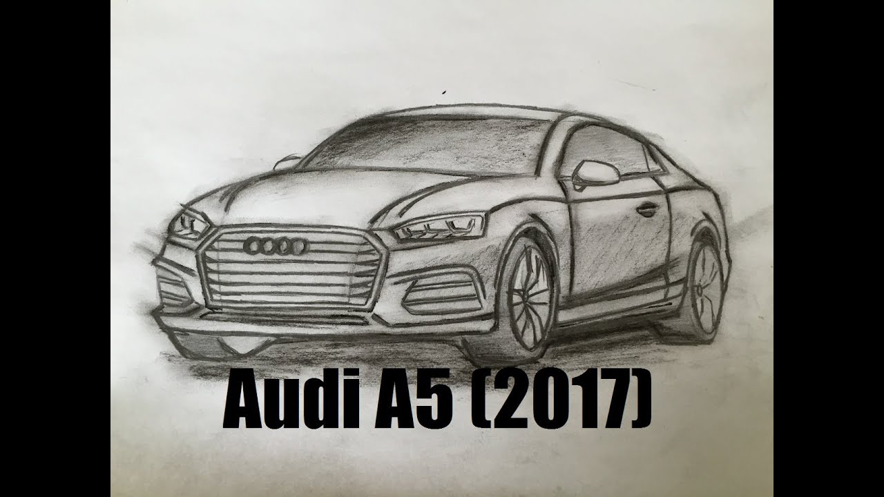 All New Audi A Design Speed Drawing Sketches How To - Audi car drawing