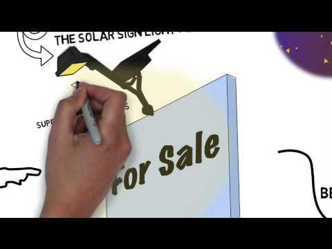 Solar LED Flood Light For Real Estate Signage and Billboards