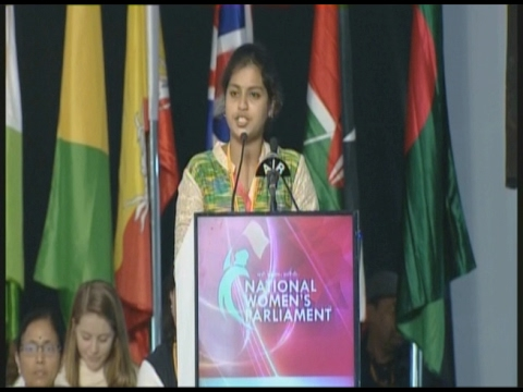 Student Speeches At National Women's Parliament || AP || Vanitha TV