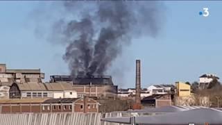 Explosion et incendie à Dieppe