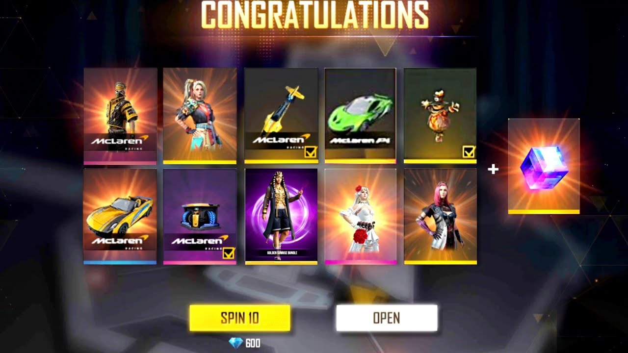 Free fire new diamond royale | free fire new Mclaren events | new top up event || Captain Gamer ||