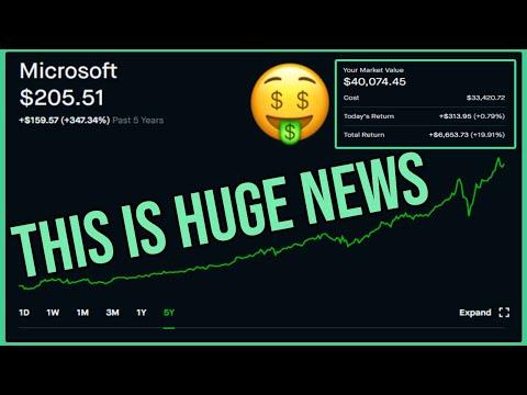HUGE NEWS For Microsoft Stock - Robinhood Investing   Microsoft Stock News & Analysis (MSFT)